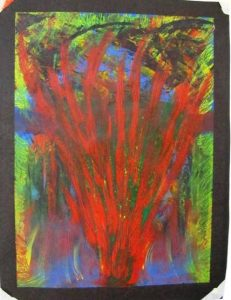 intuitive acrylic painting from santa fe workshop