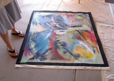 painting on ground
